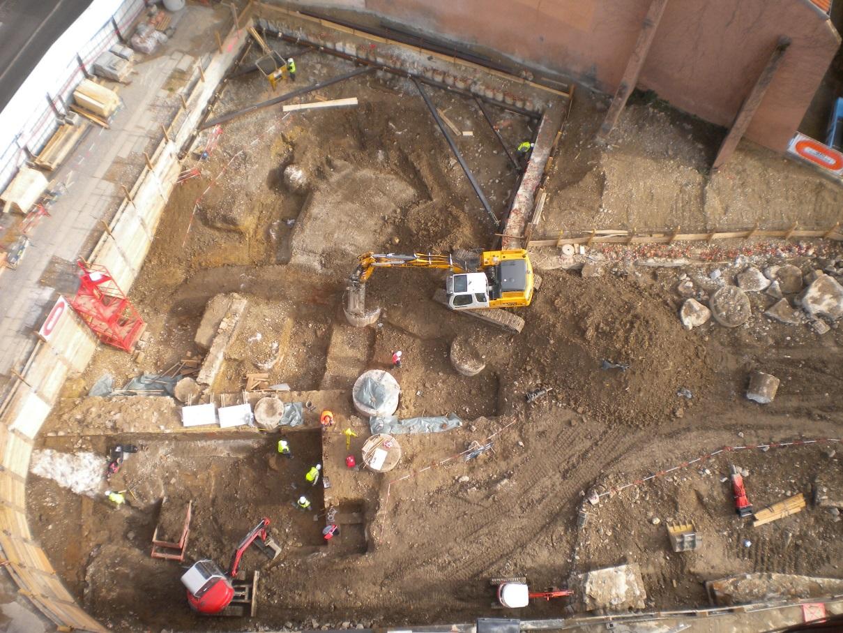 Aperçu des fouilles archéologiques - RU Magnin